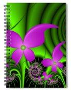 Fractal Neon Fantasy Spiral Notebook