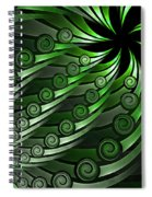 Fractal On The Way Spiral Notebook