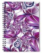 Fractal Pink Plant Spiral Notebook