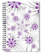 Fractal Purple Flowers Spiral Notebook