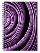 Fractal Purple Swirl Spiral Notebook