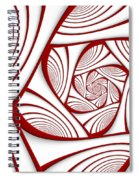 Fractal Red And White Spiral Notebook