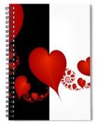 Fractal Red Hearts Spiral Notebook