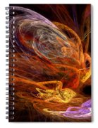 Fractal - Rise Of The Phoenix Spiral Notebook