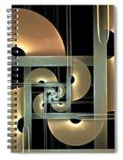 Fractal Semicircles Spiral Notebook