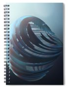 Fractal Sphere  Spiral Notebook