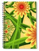 Fractal Summer Pleasures 2 Spiral Notebook