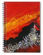 Fractal Sunrise Spiral Notebook