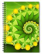 Fractal Sweet Yellow Fruits Spiral Notebook