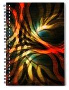Fractal Swirl Spiral Notebook