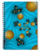 Fractal The Blue Depth Spiral Notebook