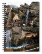 Fractalius Island In The Sun Spiral Notebook