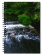 Fractalius - River Wye Waterfall - In Peak District - England Spiral Notebook