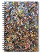 Fragmented Fall Spiral Notebook