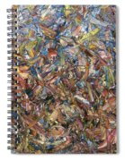 Fragmented Fall - Square Spiral Notebook