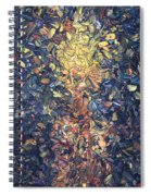 Fragmented Flame - Square Spiral Notebook