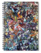 Fragmenting Heart Spiral Notebook