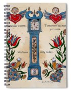 Fraktur Scriften-time Spiral Notebook