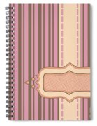 Frame With Ribbon Pinstripe Vector Spiral Notebook