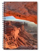 Framed By Mesa Arch Spiral Notebook
