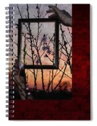 Framed Cherry Blossoms - Featured In Comfortable Art And Nature Groups Spiral Notebook