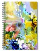 Framed In Flowers Spiral Notebook