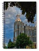 Framed Temple Spiral Notebook