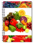 Framed Veggies Spiral Notebook