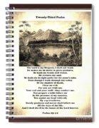 Framed Vintage 23rd Psalm Sepia Spiral Notebook