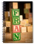 Fran - Alphabet Blocks Spiral Notebook