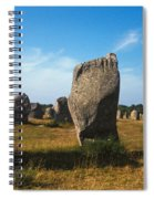 France Brittany Carnac Ancient Megaliths  Spiral Notebook