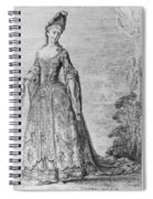 France Fashionable Lady Spiral Notebook