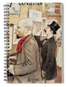 France Paris Poster Of Paul Verlaine And Jean Moreas Spiral Notebook