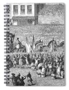 France Royal Procession Spiral Notebook