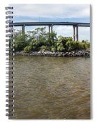 Francis Scott Key Bridge - Pano Spiral Notebook