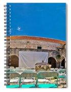 Franciscian Monastery In Hvar Panorama Spiral Notebook