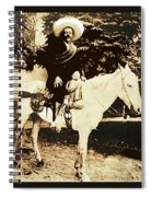 Francisco Villa On Horse Perhaps Siete Leguas Unknown Mexico Location Or Date 2013. Spiral Notebook