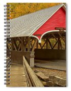 Franconia Notch Flume Gorge Bridge Spiral Notebook