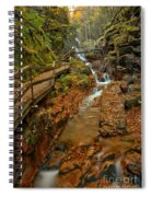 Franconia Notch Lush Greens And Rushing Waters Spiral Notebook