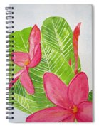 Frangipani Tree Spiral Notebook