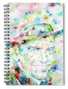 Frank Sinatra - Watercolor Portrait.1 Spiral Notebook