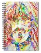 Frank Zappa Watercolor Portrait.1 Spiral Notebook