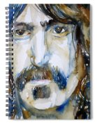 Frank Zappa Watercolor Portrait.2 Spiral Notebook