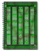 Frankensteins Quilt - Coin Quilt - Quilt Painting - Monster Green Patches Spiral Notebook