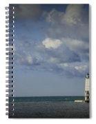Frankfort Lighthouse On Lake Michigan Spiral Notebook
