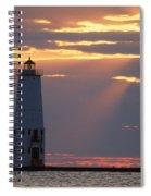 Frankfort North Breakwater Lighthouse Spiral Notebook