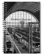 Frankfurt Bahnhof - Train Station Spiral Notebook