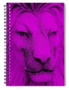 Frankie Lion Purple Spiral Notebook