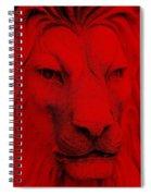 Frankie Lion Red Spiral Notebook