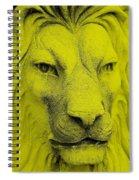 Frankie Lion Yellow Spiral Notebook